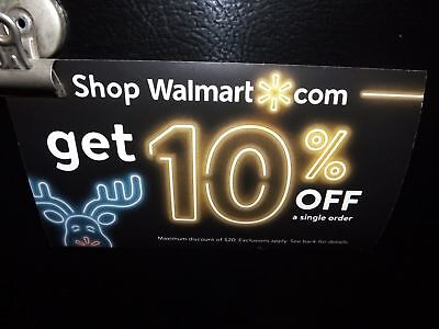 Fast! Walmart 10% off ONLINE purchases Coupon expires 1/15/19 up to $20 max