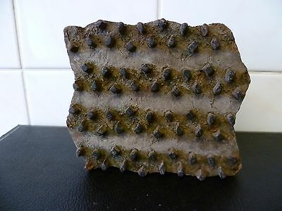 An Antique, Indian Hand Carved Wood Fabric Stamp.  Indian Textile Printing Block