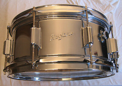 """Rogers """"Power Tone"""" Snare 14""""x 6,5"""" Cob (Chrome over Brass)"""