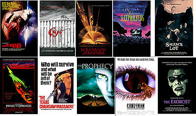 Retro Horror Movie Posters Cujo The Fog Candyman ExorcistSalem's Lot Prophecy