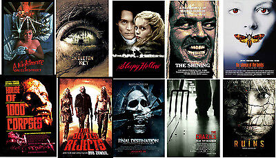 Retro Horror film Movie Posters Elm Street SleepyShining Crazies Devils Rejects