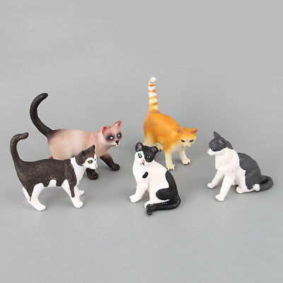 Doll House Decor Miniature Cat Simulation Animal Neko Figurine Mini Pet Model
