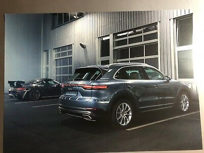 Porsche Cayenne SUV Showroom Advertising Sales Poster RARE!! Awesome L@@K