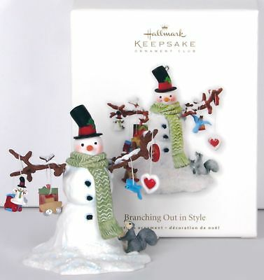 Hallmark Keepsake Ornament Club 2010 Branching Out in Style Snowman Price Tab At