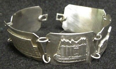 Antique 1933 World's Fair Chicago Sterling Silver Commemorative Bracelet RARE
