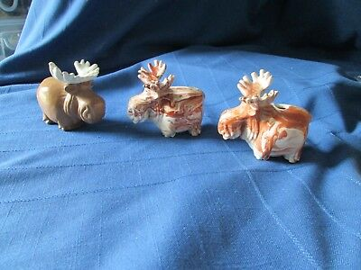 Ceramic Moose Trio – Cute Little Herd All Your Own Just Adorable!