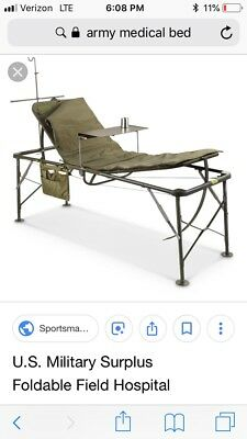 Military Hospital Foldable Camping Bed Portable