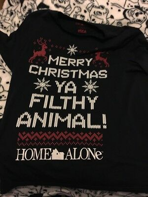 the latest new design order online ASDA GEORGE MENS Home Alone Filthy Animal Christmas T-Shirt ...