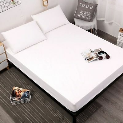 Waterproof Mattress Cover Protector Hypoallergenic Vinyl Soft Fitted Relief