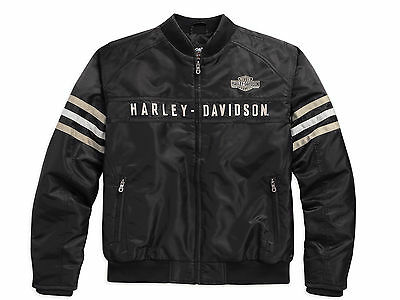 98552-15Vm Harley-Davidson Men's Heritage Nylon Bomber Outwear Jacket *** New***