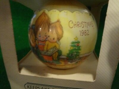 Hallmark Keepsake Betsey Clark 1982 Christmas Ornament Satin Ball - #10  Series