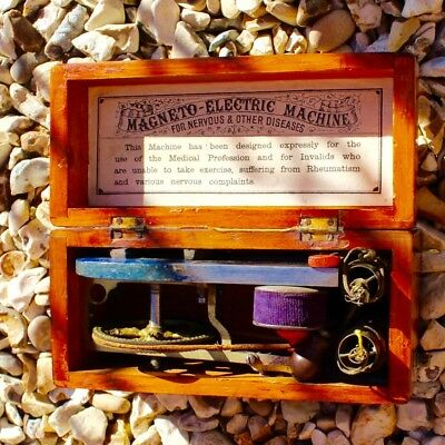 19th Century Medical Box Magneto Electric Machine 1870