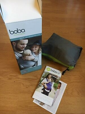 Boba Air Ultra Light weight baby and toddler carrier In Pouch. Immac. 3-48m