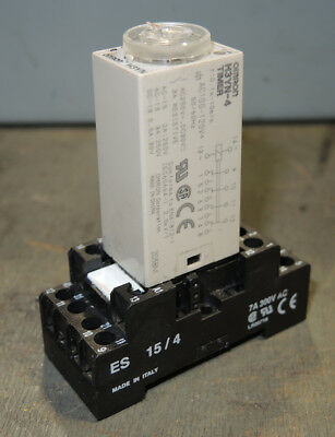 Omron H3YN-4 Timer with Socket Base .1 Seconds - 10 Minutes 100-120 VAC