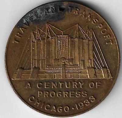 1933 Chicago World's Fair Travel and Transport token