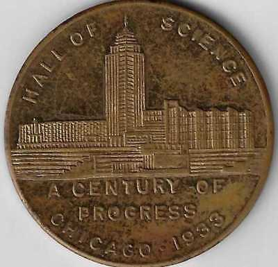1933 Chicago World's Fair Hall of Science token