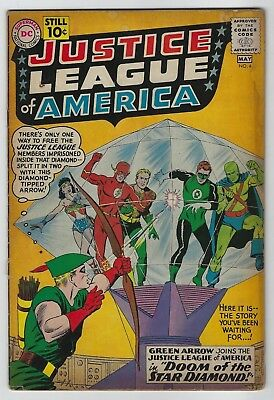 Justice League of America #4 (1961, DC) Green Arrow Joins, Gardner Fox, G/VG-