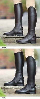 Shires Adult Synthetic Leather Gaiters BLACK Large