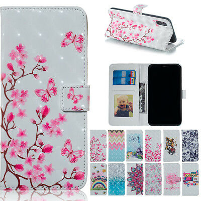 For Samsung Galaxy J4 J6 A8 A9 2018 J530 PU Leather Wallet Case Mask Phone Cover