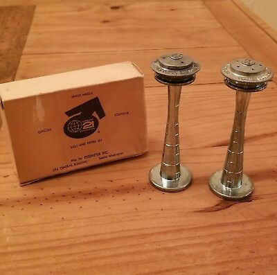 1962 Seattle World's Fair salt and pepper shakers in original box, Space Needle