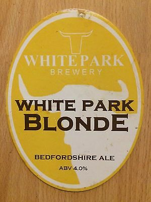 White Park Blonde Real Ale Beer Pump Clip with Bull Horns White Park Brewery