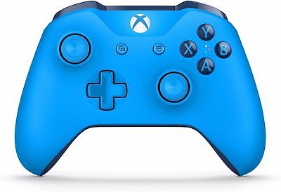 Official Microsoft Xbox One S Blue Controller Wireless Bluetooth Windows 10 NICE
