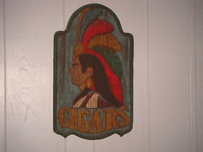 Cigar Indian Chief Sign !!!!!!!!!!!!!(BEATUFUL DISPLAY)!!!!!!!!!!!!!!!!!