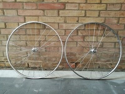 Coppia Campagnolo C Record Pista Track Nos Low Flange 28H Wheelset Fci Nisi Masi