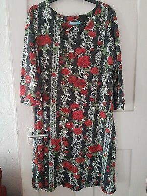 Joe Browns Dress Floral Roses Size 18