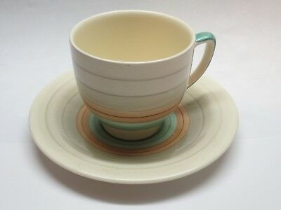 A Susie Cooper Production Demitasse Cup And Saucer Crown Works Burslem England