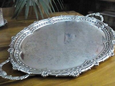 A Large Vintage Silver Plated Tray Falstaff