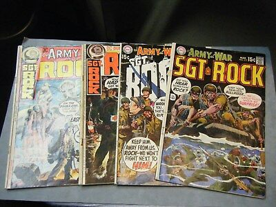 Our Army at War Lot# 1   # 217,219,235, and 236 Sgt Rock