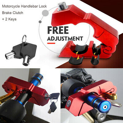 Motorcycle Handlebar Lock Brake Clutch Security Safety Theft Protection Q5V2