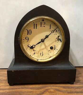 """New Haven """"Austin"""" Gothic Steeple Tombstone Mantle Table Shelf Clock"""
