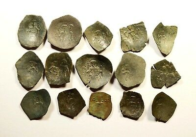 Lot Of 15 Ancient Byzantine Cup Coins - 037