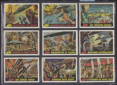 Topps 1984 Reprint Mars Attacks Complete Set of 56 Cards Mint Condition Sleeved
