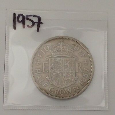 1957 Great Britain Half Crown UK GB - Queen Elizabeth II - #coinsofcanada