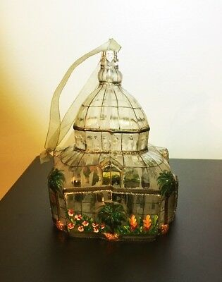 Vtg  Smith & Hawken Christmas Ornament blown glass Conservatory Solarium, rare