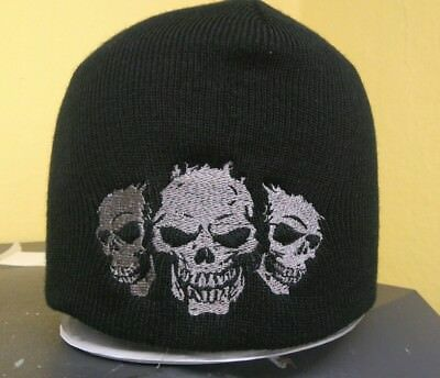 Mütze Beanie Strickmütze Biker Harley DAVIDSON Chopper Intrude 3Skulls Customs