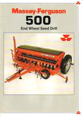 Massey Ferguson 500 End Wheel Seed Drill Brochure. Mint Condition.