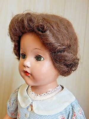 "Effanbee Vintage 1935-37 Early ANN SHIRLEY/LITTLE LADY 21"" All Composition Doll"