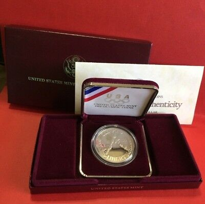 1988-S Proof Olympic Commemorative Silver Dollar Coin COA