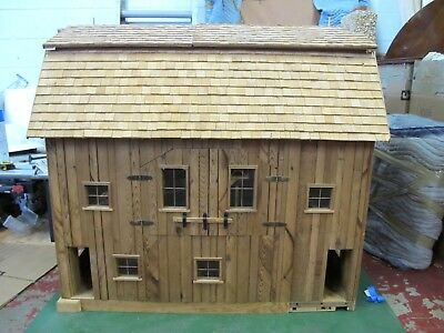 Beautiful Vintage Handcrafted Doll House Farmhouse Built & Ready