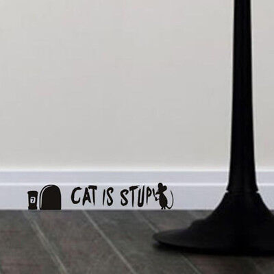 Mouse Hole Funny Mice Home Skirting Board Vinyl Wall Decal Art Sticker G