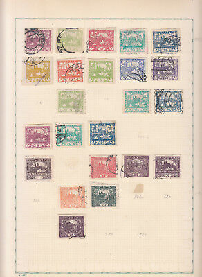 Czechoslovakia - stamp collection-1 on Album pages