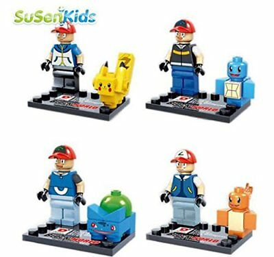 New 8Pcs POKEMON GO Mini Figures PIKACHU POKEBALL Building Blocks custom Lego
