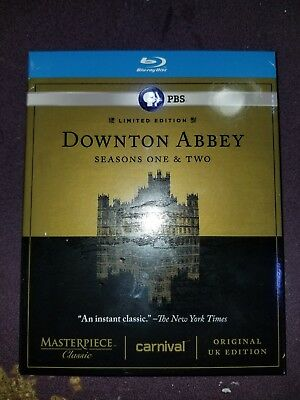 Downton Abbey Seasons 1&2 3 Limited Edition Blu-ray Disc Brand New Factory Seal!