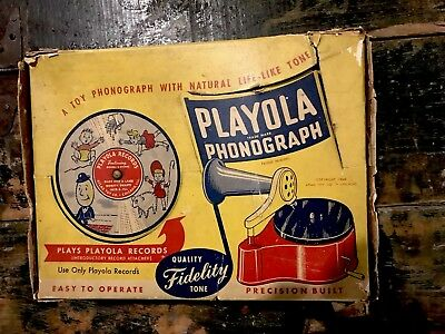 RARE VINTAGE CHILDS TOY RECORD PLAYER New In the Box