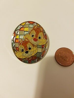 Disney Pin Badge Chip and Dale Mosaic Hong Kong Disneyland