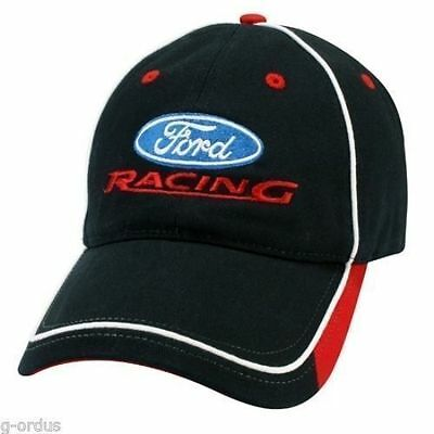 Brand New Official Navy Blue & Red Embroidered Ford Racing Hat/cap! Nascar Nhra!
